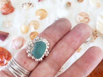 【13号】silver925 seaglass ringの画像