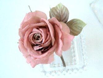 クラシックローズ 薔薇 * シルクデシン製 * コサージュ 髪飾の画像