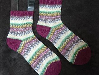 手編み靴下 opal 気仙沼 秋の画像