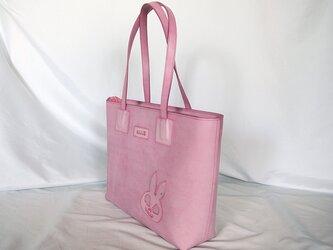 うさぎスカル。ピンクのトート。の画像