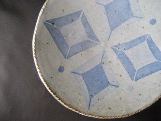 スリップ模様 白萩深皿の画像