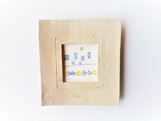 「レモンの夜に」イラスト原画 ※陶器の額縁入りの画像