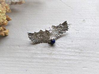 銀の滴ふるふる-梟のブローチ-/SV925の画像