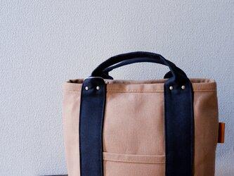 受注製作:トートバッグ : 倉敷帆布:M:キャメルの画像