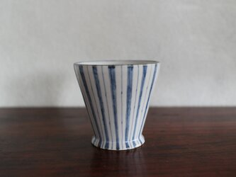 ラッパコップ(白/青)の画像