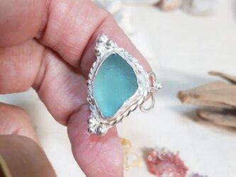 【11号】silver925 seaglass ringの画像