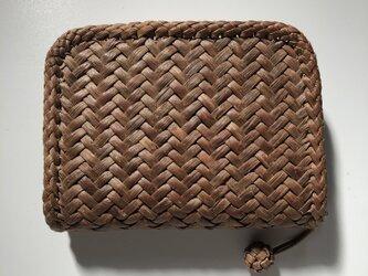山葡萄財布(半財布) 斜め網代編み 5mmの画像