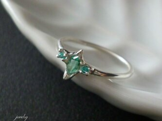 Emerald pinkie ring - エメラルドのピンキーリングの画像