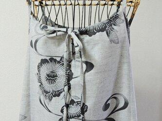 浴衣リメイク:浴衣のキャミワンピース 花と波の画像