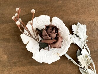 "Corsage : コサージュ "" Antique, Brown rose. ""の画像"