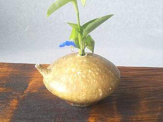 薪窯]自然釉  水滴 一輪挿しの画像
