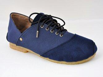 ROUND sneakers #倉敷帆布 #受注製作の画像