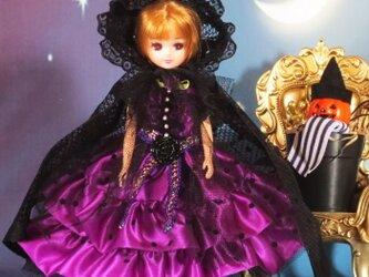 萌え可愛いロリータプリンセスワンピース ハロウィンにも最適な魔女っ娘バージョンの画像