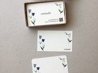 トルコキキョウの名刺 ショップカード メッセージカード 50枚の画像