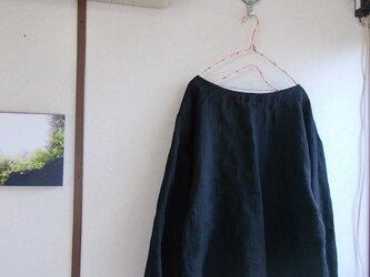 リネン袖口ギャザープルオーバーの画像