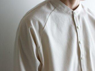 cotton flannel/raglan shirt/Ivoryの画像