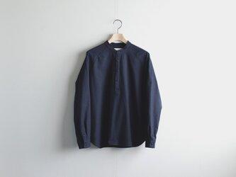 cotton flannel/raglan shirt/navyの画像