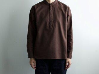 cotton flannel/raglan shirt/brownの画像