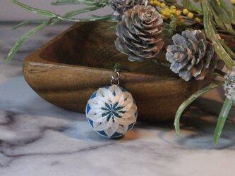 雪の華手毬 バッグチャーク・キーホルダーの画像