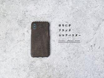 全機種対応iPhoneレザーケース(ブラックココアパウダー)の画像