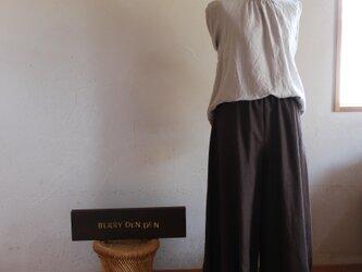 Mさまオーダー「ブラウン」 85cm丈 ポケット付きの画像