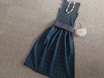 ★一点物★デンマークのヒュッゲ★タータンチェックのギャザースカート★の画像