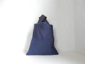 裂き織りのぽってりバッグの画像