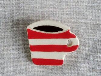 コーヒーカップブローチの画像