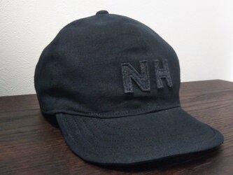 『特別ご注文品』 アルファベットキャップ『NH』 国産ハーフリネン生地の画像