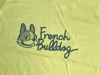 プリントTシャツ FrenchBulldog文字入 イエローバージョン 【受注販売】の画像