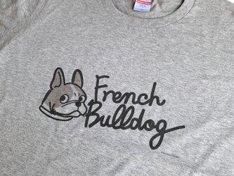 プリントTシャツ FrenchBulldog文字入 グレーバージョン 【受注販売】の画像