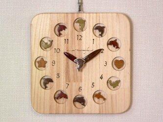 幸運と癒しのイルカ時計 25cm角の画像