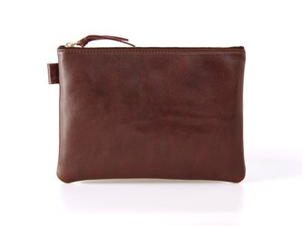 《Horse Leather》Flat Porch-Chocolate brownの画像