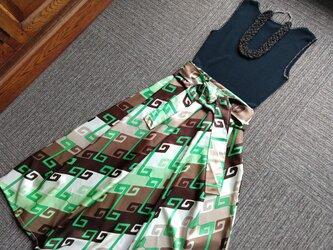 ★70年代?委託のヴィンテージ生地★ボックスタイプのスカート★受注製作★の画像