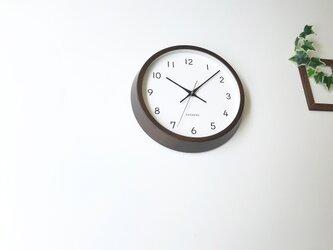 KATOMOKU muku clock 13 ビーチ ブラウン km-104BRRC 電波時計 連続秒針 掛け時計の画像