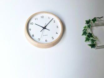 KATOMOKU muku clock 13 H.メープル km-104HMRC 電波時計 連続秒針 掛け時計の画像