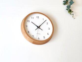 KATOMOKU muku clock 13 オーク km-104OARC 電波時計 連続秒針 掛け時計の画像