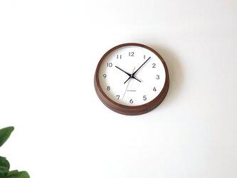 KATOMOKU muku clock 13 ウォールナット km-104WARC 電波時計 連続秒針 掛け時計の画像