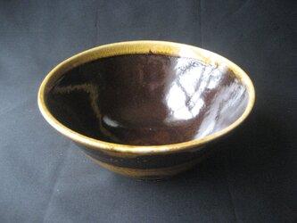 鉄釉重ね 丼の画像