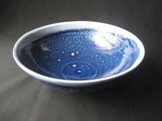 瑠璃 藍グラデ大鉢の画像
