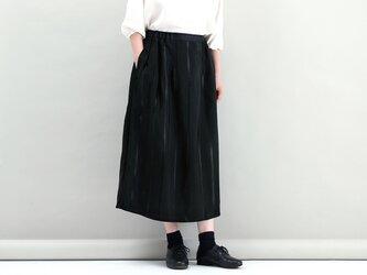 タックギャザースカート(サテンストライプ)#274の画像