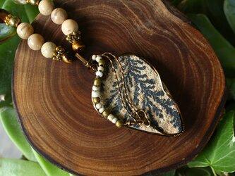 デンドリティック ライムストーン 自然の芸術、樹枝状結晶の石の画像