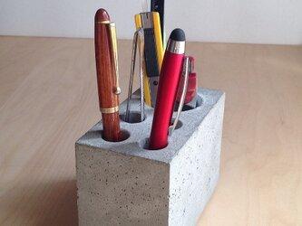 ペン立てブロック B-type コンクリート製 の画像