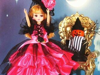 ハロウィンにも最適な魔女っ娘バージョン 萌え可愛いロリータプリンセスワンピースの画像