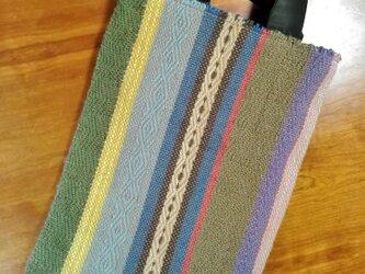 手織りジュートのサブバッグ Aの画像