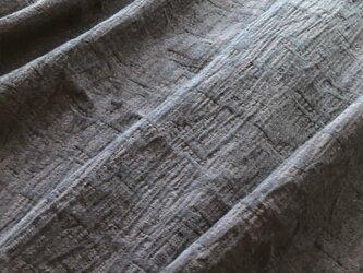 本藍染め 国産ダブルガーゼ生地(キルト風の織模様)約幅112×240㎝ KW-001の画像