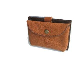 pass card case ブラウンの画像