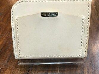 ヌメ革L型ラウンドミニ財布の画像