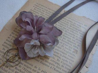 布花の2wayネックレス(P)の画像