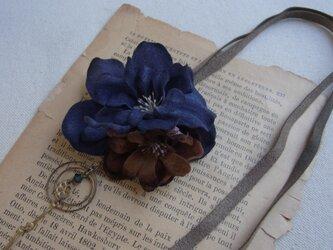 布花の2wayネックレス(N)の画像